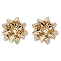 Christmas Bow Goldtone Stud Earrings ONLY $4.95
