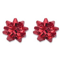 Red Christmas Bow Stud Earrings ONLY $5.99