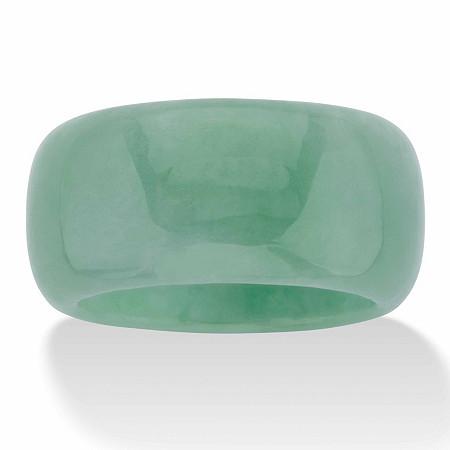 Genuine Green Jade Polished Eternity Ring at PalmBeach Jewelry
