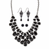 Related Item Simulated Black Onyx Silvertone and Black Ruthenium-Plated Necklace Set BONUS BUY: Buy the Set and Get the Drop Earrings FREE! 18