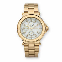 SETA JEWELRY Jones New York Crystal Multi-Dial Fashion Watch with White Face in Goldtone 7