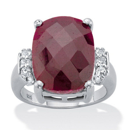 ruby Silver cocktail ring tanzanite