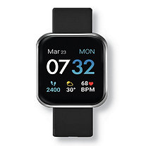 """I Touch Air 3 Black Rubber Band Electronic Watch 7.5""""-9"""" Length"""