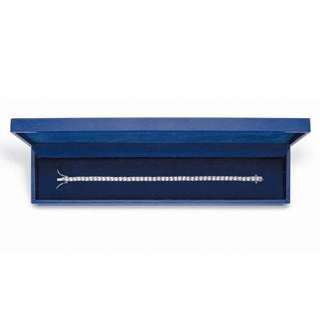 "Round Cubic Zirconia 10.75 TCW Tennis Bracelet Platinum-Plated 7.5"" With FREE Gift Box at PalmBeach Jewelry"