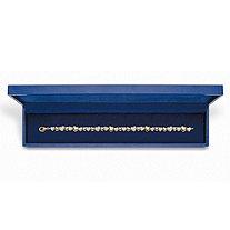 Round Diamond Two-Tone Heart-Link Bracelet 1/10 TCW 18k Gold-Plated 8