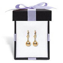 Ball Drop Earrings in 14k Gold With FREE Gift Box