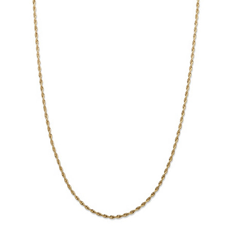 "Diamond-Cut Rope Chain Necklace in 14k Yellow Gold 24"" (1.5mm) at PalmBeach Jewelry"