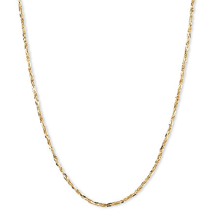 Tornado-Link Chain Necklace in 14k Yellow Gold 20