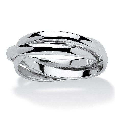 Sterling Silver Tri-Band Rolling Ring at PalmBeach Jewelry