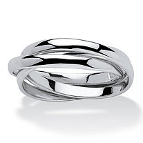 SETA JEWELRY Sterling Silver Tri-Band Rolling Ring