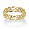 Related Item 14k Gold-Plated Braided Link Ring