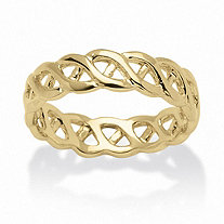 14k Gold-Plated Braided Link Ring