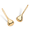 Related Item 18k Gold over Sterling Silver Drop-Kiss Earrings