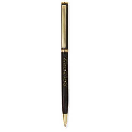 Yellow Gold Tone and Matte Black Executive-Style Personalized Pen at PalmBeach Jewelry