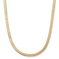"Superflex Herringbone Chain In Yellow Gold Tone 18"" (5.5mm)"