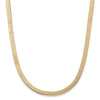 SETA JEWELRY Superflex Herringbone Chain in Yellow Gold Tone 18