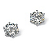 Related Item 5.00 TCW Round Cubic Zirconia Sterling Silver Stud Earrings