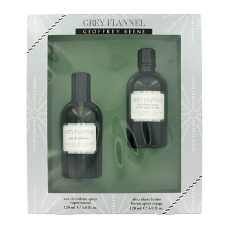 GREY FLANNEL by Geoffrey Beene for Men Gift Set -- 4 oz Eau De Toilette Spray + 4 oz After Shave at PalmBeach Jewelry