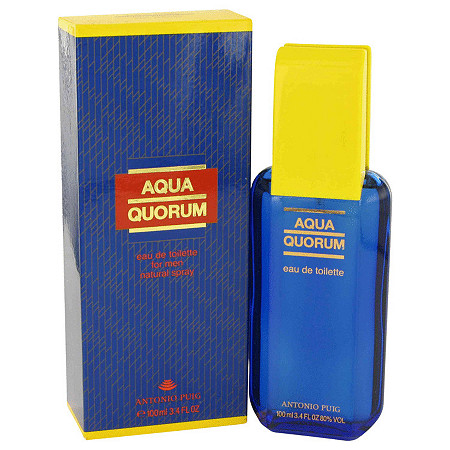 AQUA QUORUM by Antonio Puig for Men Eau De Toilette Spray 3.4 oz at PalmBeach Jewelry