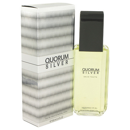 Quorum Silver by Puig for Men Eau De Toilette Spray 3.4 oz at PalmBeach Jewelry