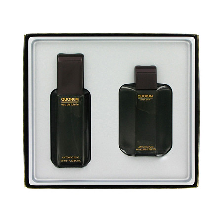 QUORUM by Antonio Puig for Men Gift Set -- 3.3 oz Eau De Toilette Spray + 3.3 oz After Shave at PalmBeach Jewelry