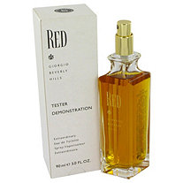 RED by Giorgio Beverly Hills for Women Eau De Toilette Spray (Tester) 3 oz