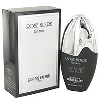 Rose Noire Black by Giorgio Valente for Men Eau De Toilette Spray 3.3 oz