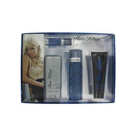 Paris Hilton by Paris Hilton for Men Gift Set -- 3.4 oz  Eau De Toilette Spray + 3 oz Body Wash + 2.75 oz Deodorant Stick + .25 Mini EDT Spray at PalmBeach Jewelry