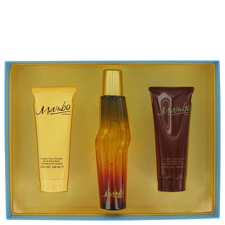MAMBO by Liz Claiborne for Men Gift Set -- 3.4 oz Cologne Spray + 3.4 oz Body Wash + 3.4 oz Body Moisturizer at PalmBeach Jewelry