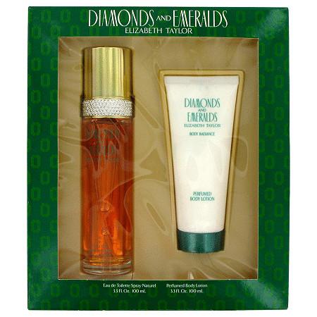 DIAMONDS & EMERALDS by Elizabeth Taylor for Women Gift Set -- 3.3 oz Eau De Toilette Spray + 3.3 oz Body Lotion at PalmBeach Jewelry