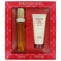DIAMONDS & RUBIES by Elizabeth Taylor for Women Set : 3.3 oz Eau De Toilette + 3.3 oz Body Lotion