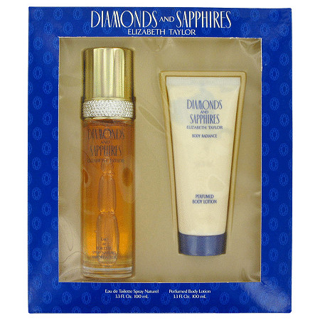 DIAMONDS & SAPHIRES by Elizabeth Taylor for Women Gift Set -- 3.3 oz Eau De Toilette Spray + 3.3 oz Body Lotion at PalmBeach Jewelry