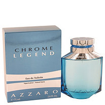Chrome Legend by Azzaro for Men Eau De Toilette Spray 2.6 oz