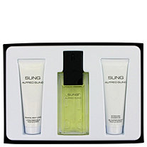 Alfred SUNG by Alfred Sung for Women Gift Set -- 3.4 oz Eau De Toilette Spray + 2.5 oz Body Lotion + 2.5 oz Shower Gel