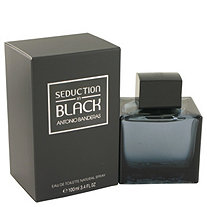 Seduction In Black by Antonio Banderas for Men Eau De Toilette Spray 3.4 oz