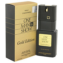 One Man Show Gold by Jacques Bogart for Men Eau De Toilette Spray 3.3 oz