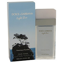 Light bluE Dreaming In Portofino by Dolce & Gabbana for Women Eau De Toilette Spray 3.3 oz