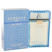 Versace Man by Versace for Men Eau Fraiche Eau De Toilette Spray (Blue) 6.7 oz
