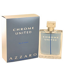 Chrome United by Azzaro for Men Eau De Toilette Spray 3.4 oz