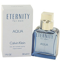 Eternity Aqua by Calvin Klein for Men Eau De Toilette Spray 1 oz