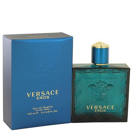 Versace Eros by Versace for Men Eau De Toilette Spray 3.4 oz at PalmBeach Jewelry
