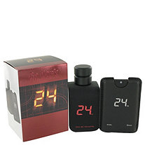 24 Go Dark The Fragrance by ScentStory for Men Eau De Toilette Spray + .8 oz Mini Pocket Spray 3.4 oz