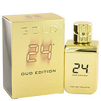 24 Gold Oud Edition by ScentStory for Men Eau De Toilette Concentree Spray (Unisex) 3.4 oz