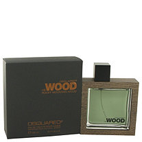 He Wood Rocky Mountain Wood by Dsquared2 for Men Eau De Toilette Spray 3.4 oz
