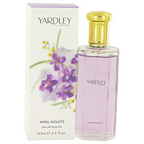 April Violets by Yardley London for Women Eau De Toilette Spray 4.2 oz