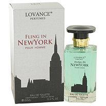Fling In New York by Lovance for Men Eau De Toilette Spray 3.4 oz