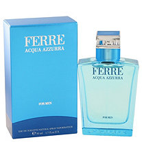Ferre Acqua Azzurra by Gianfranco Ferre for Men Eau De Toilette Spray 1.7 oz