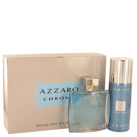 Chrome by Azzaro for Men Gift Set -- 3.4 oz Eau De Toilette Spray + 5 oz Deodorant Spray at PalmBeach Jewelry