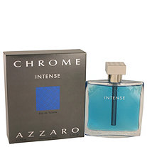 Chrome Intense by Azzaro for Men Eau De Toilette Spray 3.4 oz