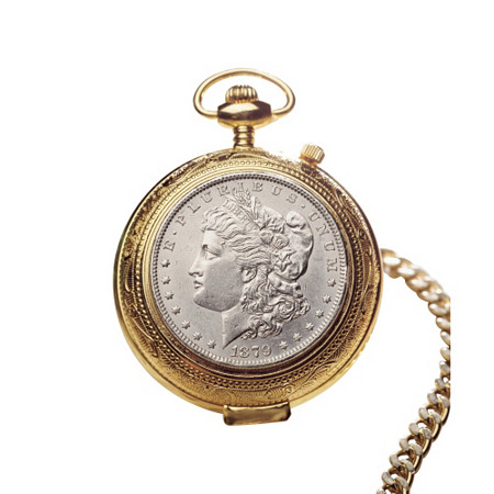 100 Year Old Morgan Silver Dollar Pocket Watch at PalmBeach Jewelry
